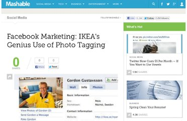 http://mashable.com/2009/11/25/facebook-marketing-ikeas-genius-use-of-photo-tagging/