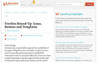 http://www.smashingmagazine.com/2007/05/24/freebies-round-up-icons-buttons-and-templates/