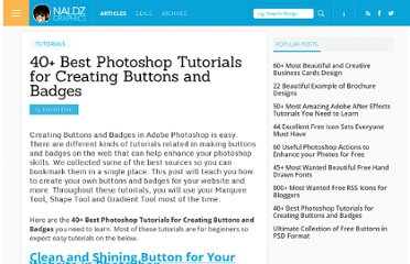 http://naldzgraphics.net/tutorials/40-best-photoshop-tutorials-for-creating-buttons-and-badges/