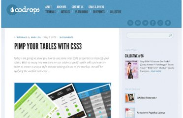 http://tympanus.net/codrops/2010/05/03/pimp-your-tables-with-css3/