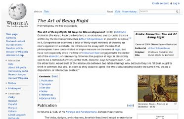 http://en.wikipedia.org/wiki/The_Art_of_Being_Right