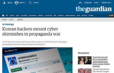 http://www.guardian.co.uk/world/2011/jan/11/korea-hackers-mount-cyber-skirmishes