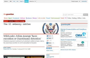 http://www.guardian.co.uk/media/2011/jan/11/julian-assange-wikileaks-execution-gantanamo