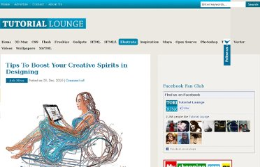 http://www.tutoriallounge.com/2010/12/tips-to-boost-your-creative-spirits-in-designing/