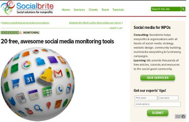 http://www.socialbrite.org/2011/01/11/guide-to-free-social-media-monitoring-tools/