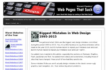 http://www.webpagesthatsuck.com/biggest-mistakes-in-web-design-1995-2015.html