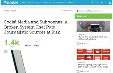 http://mashable.com/2011/01/11/journalism-social-media-loophole/