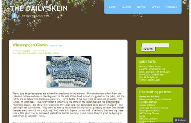 http://dailyskein.wordpress.com/2009/10/05/wintergreen-gloves/