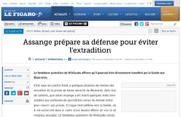 http://www.lefigaro.fr/international/2011/01/11/01003-20110111ARTFIG00743-assange-prepare-sa-defense-pour-eviter-l-extradition.php
