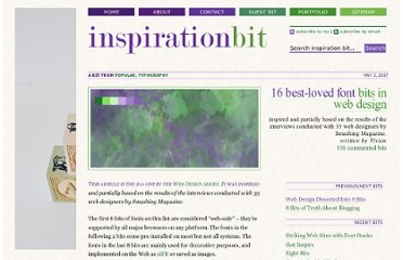 http://www.inspirationbit.com/16-best-loved-font-bits-in-web-design/