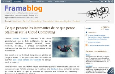 http://www.framablog.org/index.php/post/2011/01/12/stallman-chromeos-cloudcomputing-commentaires