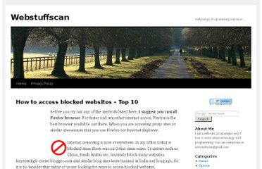 http://www.webstuffscan.com/2006/11/23/how-to-access-blocked-websites-top-10/