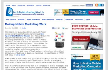 http://www.mobilemarketingwatch.com/making-mobile-marketing-work-11688/
