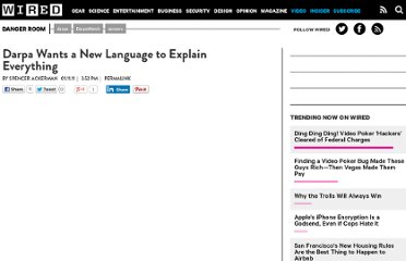 http://www.wired.com/dangerroom/2011/01/darpa-wants-a-new-language-to-explain-everything/