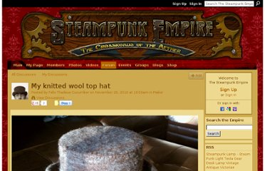 http://www.thesteampunkempire.com/forum/topics/my-knitted-wool-top-hat?commentId=2442691%3AComment%3A372024