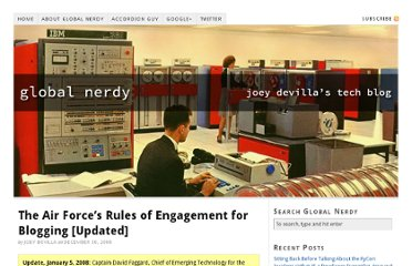 http://www.globalnerdy.com/2008/12/30/the-air-forces-rules-of-engagement-for-blogging/