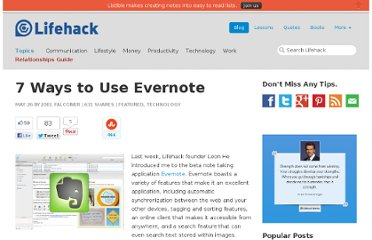http://www.lifehack.org/articles/technology/7-ways-to-use-evernote.html