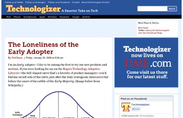http://technologizer.com/2009/01/30/the-loneliness-of-the-early-adopter/