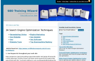 http://www.seotrainingwizard.com/p170843-search-engine-optimization-techniques.cfm