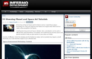 http://www.infernodevelopment.com/35-stunning-planet-and-space-art-tutorials