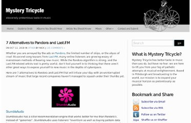 http://mysterytricycle.com/7-alternatives-to-pandora-and-last-fm