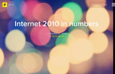 http://royal.pingdom.com/2011/01/12/internet-2010-in-numbers/
