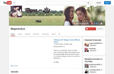 http://www.youtube.com/user/MeganandLiz