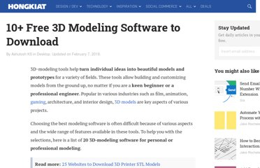 http://www.hongkiat.com/blog/25-free-3d-modelling-applications-you-should-not-miss/