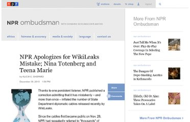 http://www.npr.org/blogs/ombudsman/2011/01/03/132444735/npr-apologizes-for-wikileaks-mistake-nina-totenberg-and-teena-marie