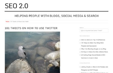 http://seo2.0.onreact.com/101-tweets-on-how-to-use-twitter