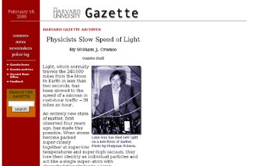 http://www.news.harvard.edu/gazette/1999/02.18/light.html