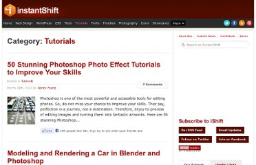 http://www.instantshift.com/category/tutorials/