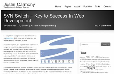 http://www.justincarmony.com/blog/2010/09/17/svn-switch-key-to-success-in-web-development/