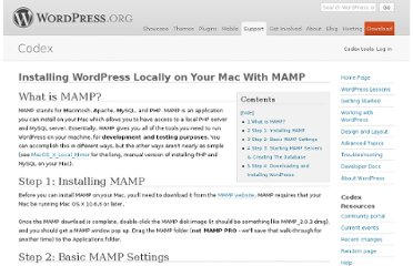 http://codex.wordpress.org/Installing_WordPress_Locally_on_Your_Mac_With_MAMP