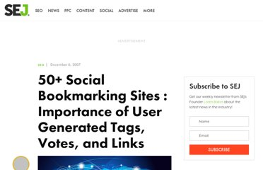 http://www.searchenginejournal.com/125-social-bookmarking-sites-importance-of-user-generated-tags-votes-and-links/6066/