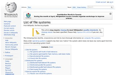http://en.wikipedia.org/wiki/List_of_file_systems
