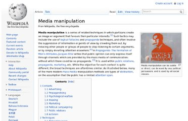 http://en.wikipedia.org/wiki/Media_manipulation