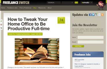 http://freelanceswitch.com/freelancing-essentials/how-to-tweak-your-home-office-to-be-productive-full-time/