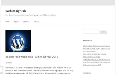 http://www.webdesignish.com/38-best-free-wordpress-plugins-of-year-2010.html