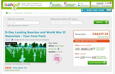 http://www.isango.com/france-tours/paris-tours/d-day-landing-beaches-and-world-war-ii-memorials-tour-from-paris_2819