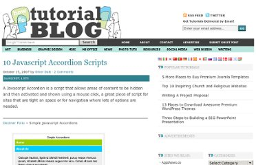 http://tutorialblog.org/10-javascript-accordion-scripts/
