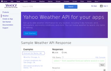 http://developer.yahoo.com/weather/