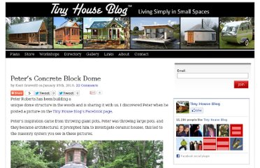 http://tinyhouseblog.com/dome/peters-concrete-block-dome/