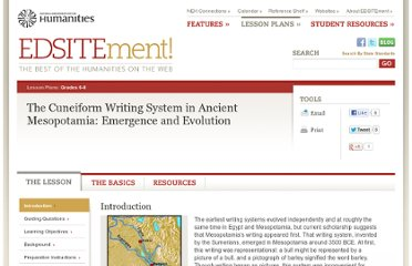 http://edsitement.neh.gov/lesson-plan/cuneiform-writing-system-ancient-mesopotamia-emergence-and-evolution