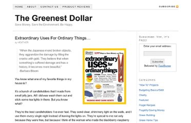 http://www.thegreenestdollar.com/2009/10/extraordinary-uses-for-ordinary-things/