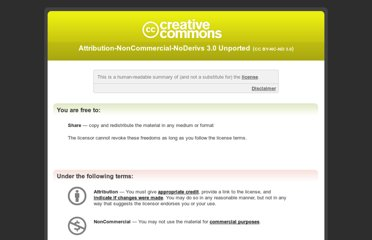 http://creativecommons.org/licenses/by-nc-nd/3.0/