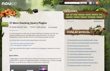 http://www.noupe.com/ajax/37-more-shocking-jquery-plugins.html