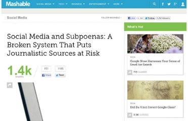 http://mashable.com/2011/01/11/journalism-social-media-loophole/#