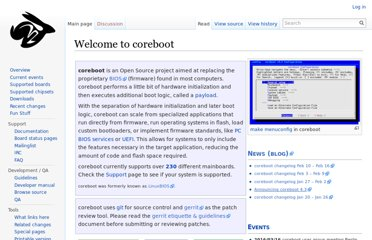 http://www.coreboot.org/Welcome_to_coreboot