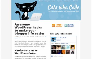 http://www.catswhocode.com/blog/awesome-wordpress-hacks-to-make-your-blogger-life-easier